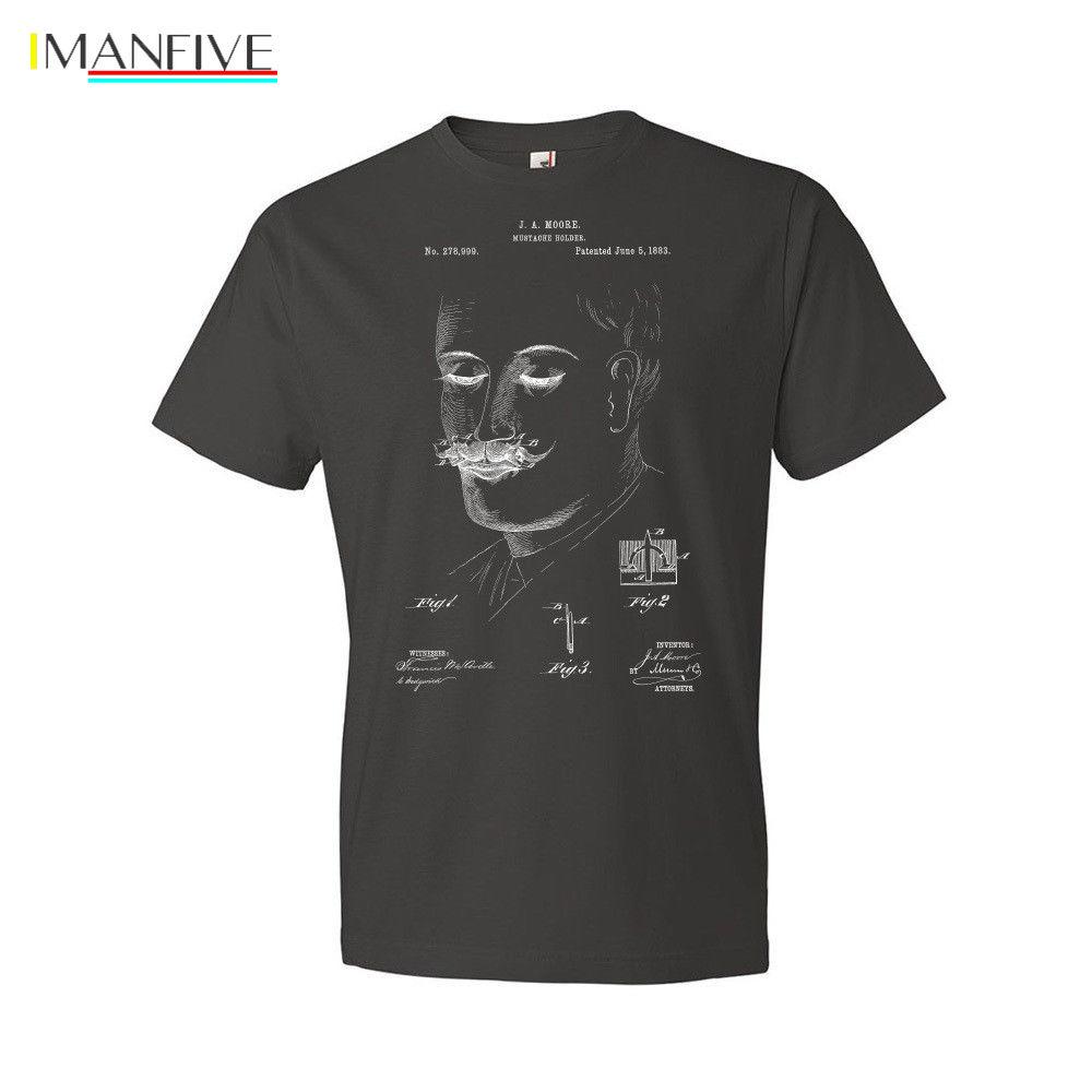 Mustache Holder T-Shirt Mustache Beard Grooming Barber Shop Gift2019 Fashion Brand Men's Tops StreetWear T-shirt Solid Color