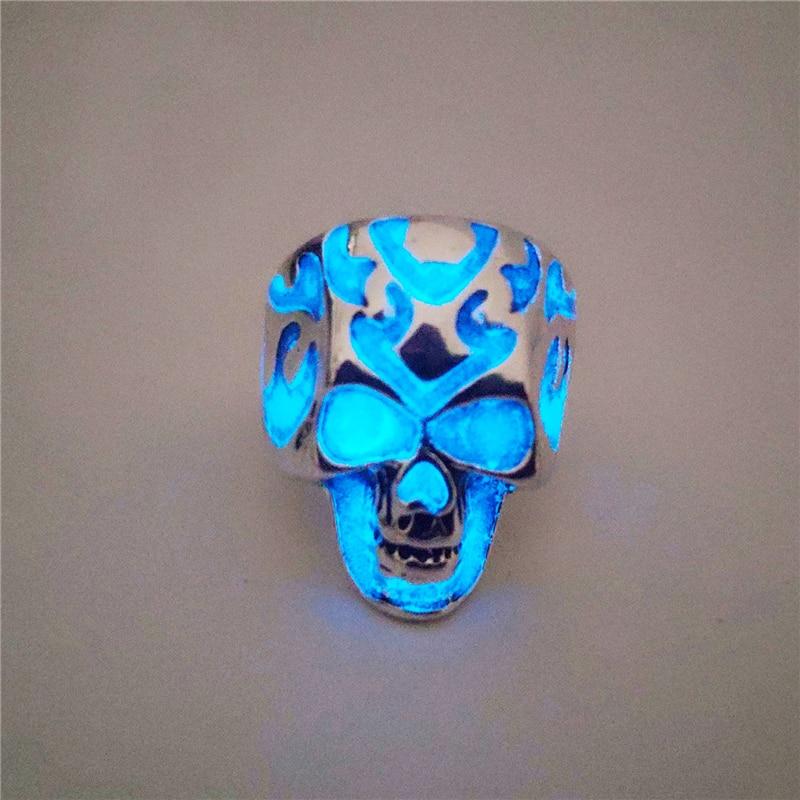 Glow In the Dark Luminescence Skull Halloween Decorative Accessory 3.75 Inch Tal