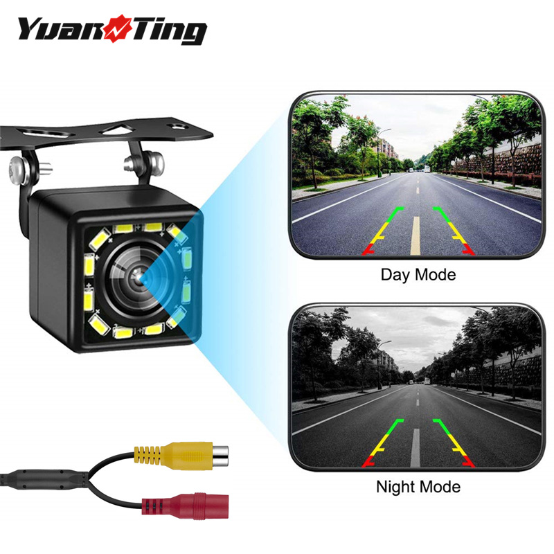 YuanTing Rear View Backup 170 Degree Wide Angle Waterproof HD 12 LED Nigh Vision Lights title=