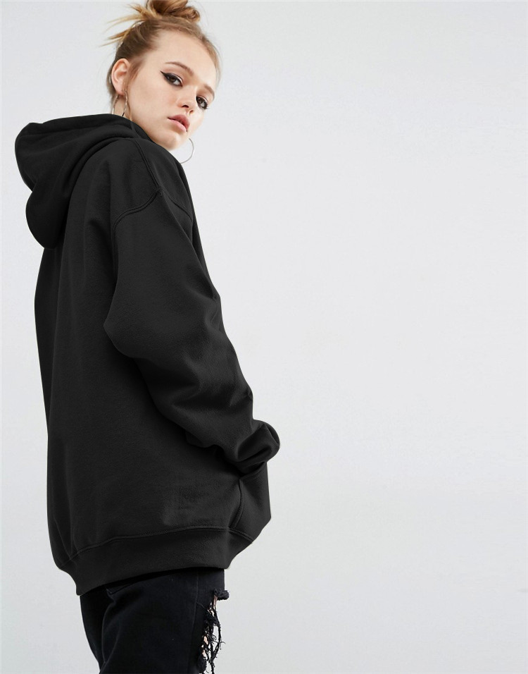 GUMNHU Women Fleece Hoodie Sweatshirts Winter Japanese Fashion 19 Oversize Ladies Pullovers Warm Pocket Hooded Jacket 3