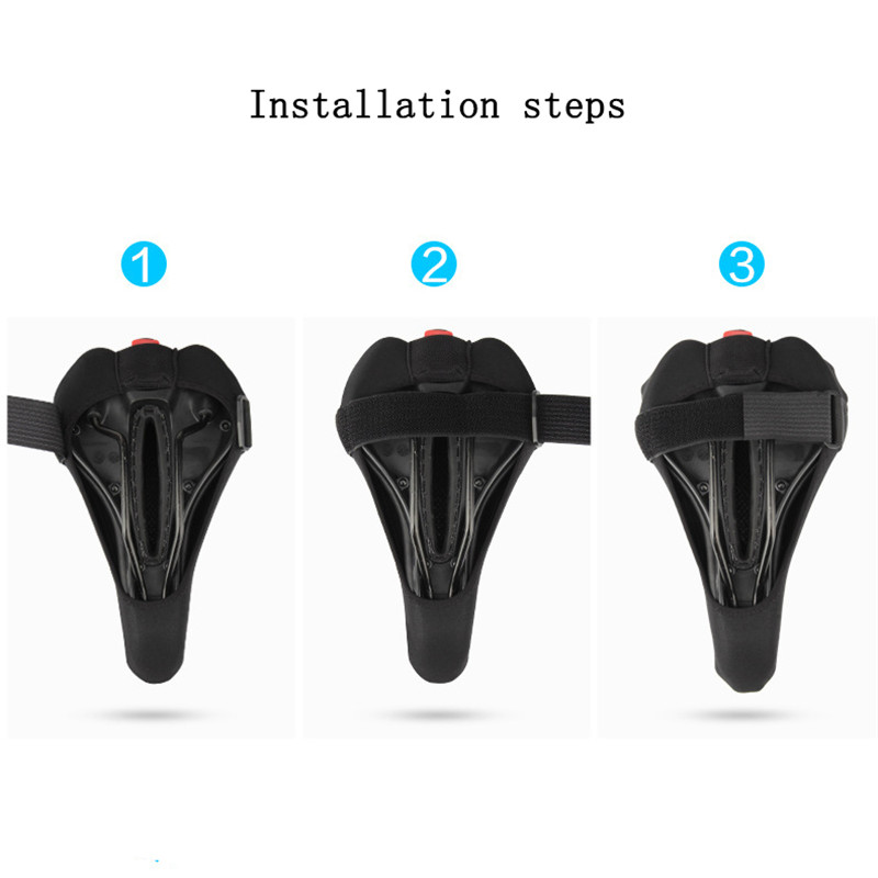 Electronics - Bike Saddle Cover, Soft Silicone Padded, Comfort Breathable Bicycle Seat Cover - for Mountain Road Bike Outdoor Cycling