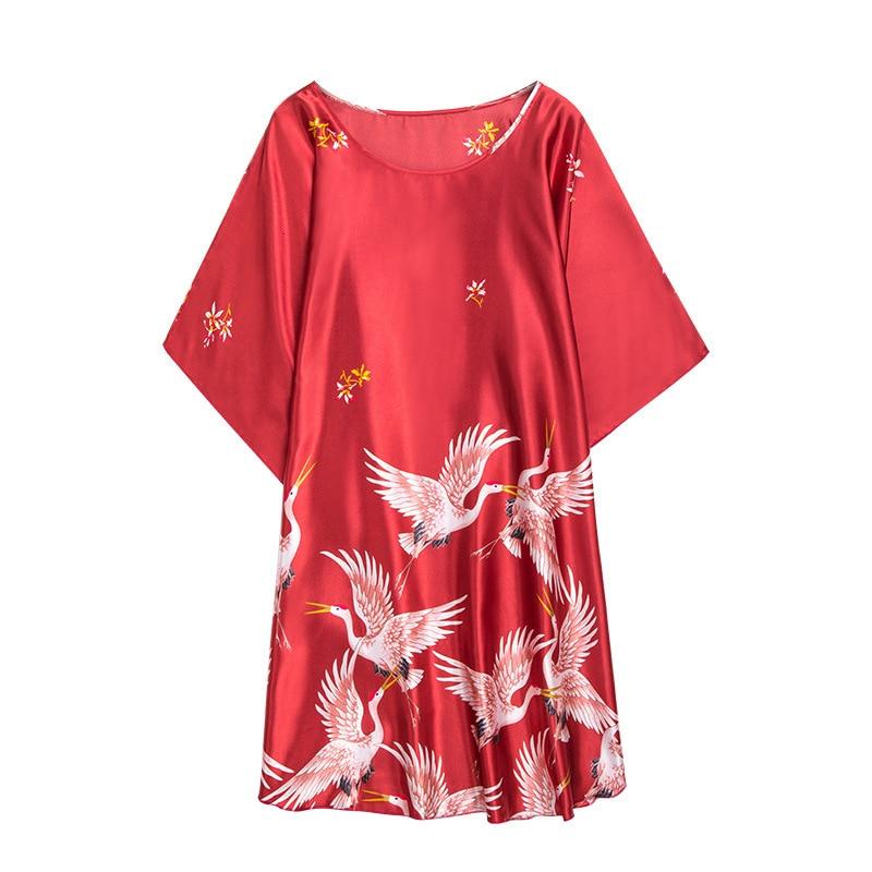 Women/'s Satin Silk Robe Kimono Bath Gown Pajama Loungewear  Pyjama Nightwear Sleepwear Bathrobe Lady Home Sleep Robe Dress Wear