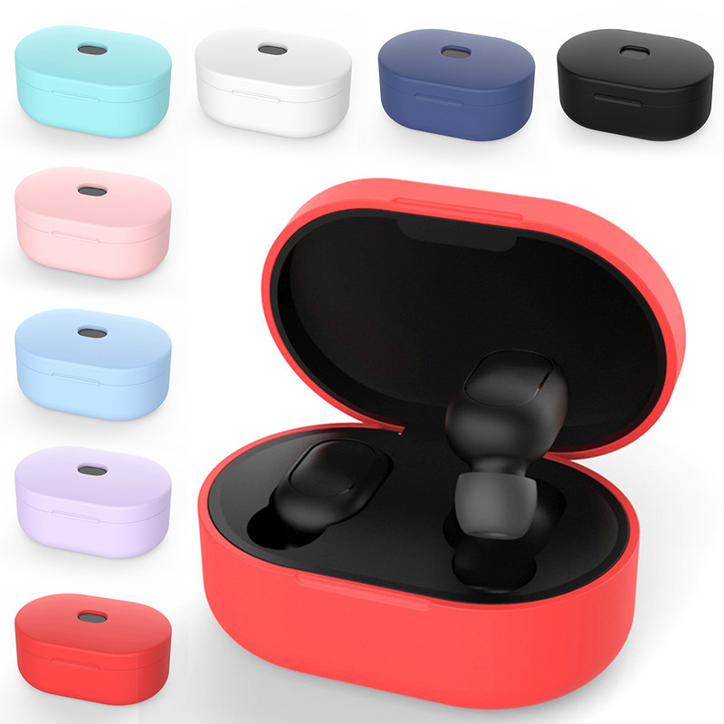 Box Headphones-Case Protective-Cover Bluetooth Xiaomi Airdots Silicone Wireless for Charging-Box title=