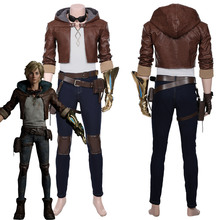 Costume Adult Ezreal Cosplay Outfit Coat Pants Halloween Carnival LOL Explorer Prodigal