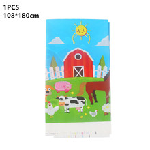 Table-Cloth Flag-Plate Farm Birthday-Party Balloon Party-Supplies Animal-Theme Kids Cup
