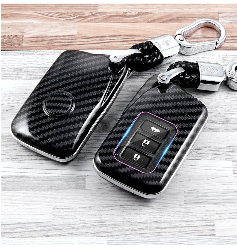 key fob holder 4 Bottons Leather Car Key Fod Cover Case Protector Keyless for Lexus ES GS IS LX NX RX RC RC-F Smart Fob Remote Key