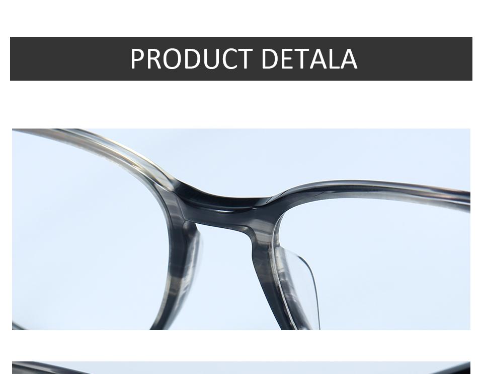 ZENOTTIC Transparent Glasses Frame Men Prescription Glasses Lenses Acetate Glasses Man Frames Optical Myopia Eyeglasses (9)