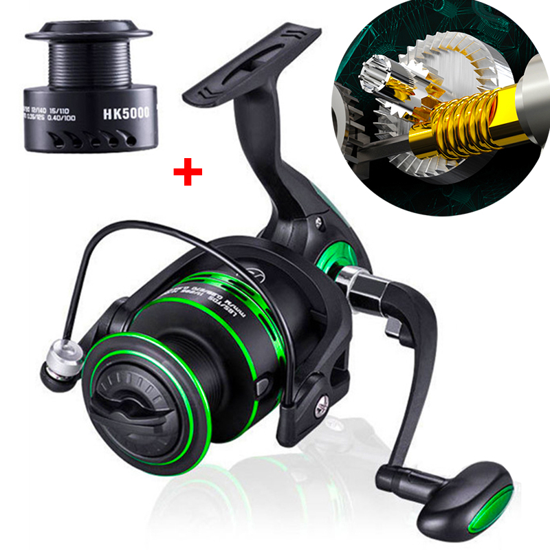 High Quality Double Spool Fishing Reel 5.2:1 Gear Ratio High Speed Spinning Reel Carp Fishing Reels For Saltwater title=