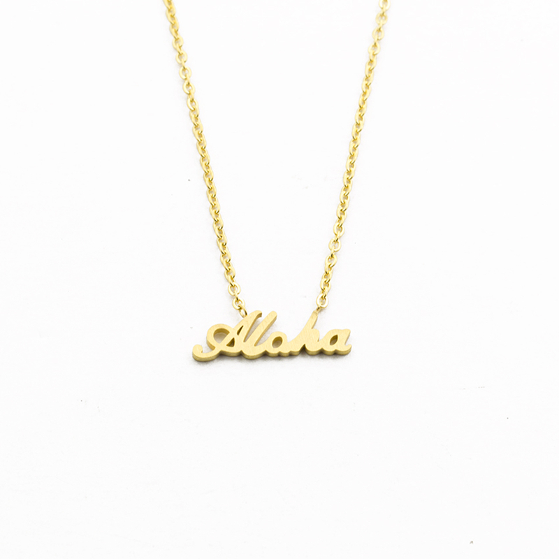 Hawaii-Best-Regards-Aloha-Necklace-Pendant-Women-Summer-Jewelry-Stainless-Steel-Gold-Chain-Letter-Collier-Femme