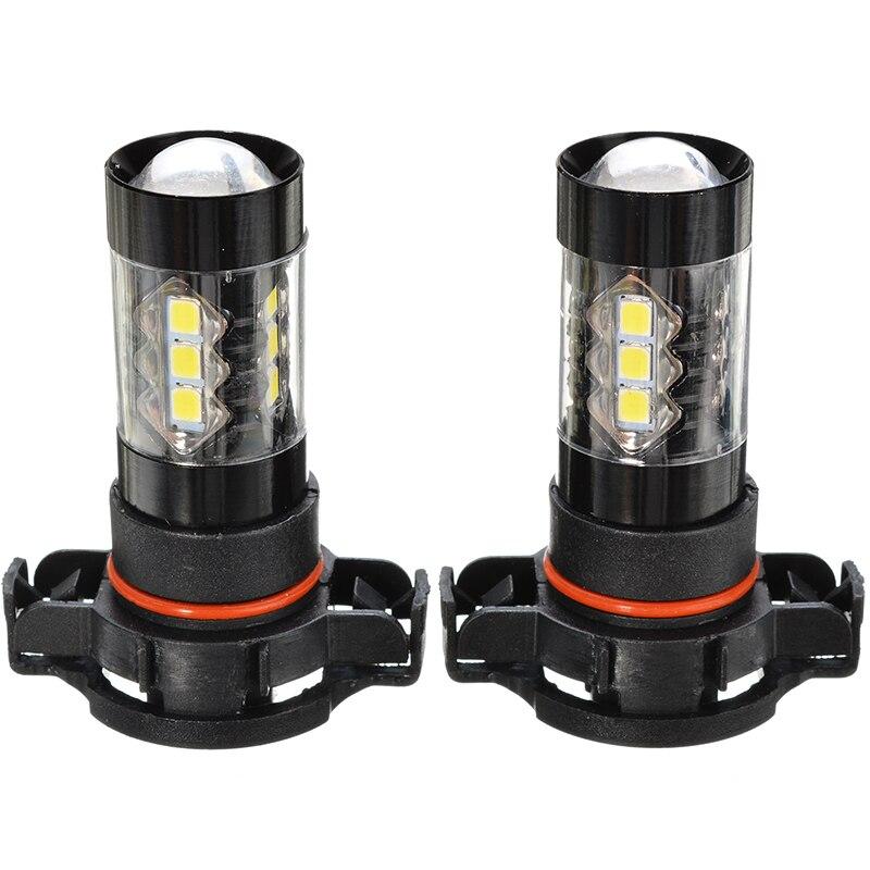 2pcs HID White 5202 5201 LED Bulbs for Car Truck Fog Lights Daytime Running Lamp