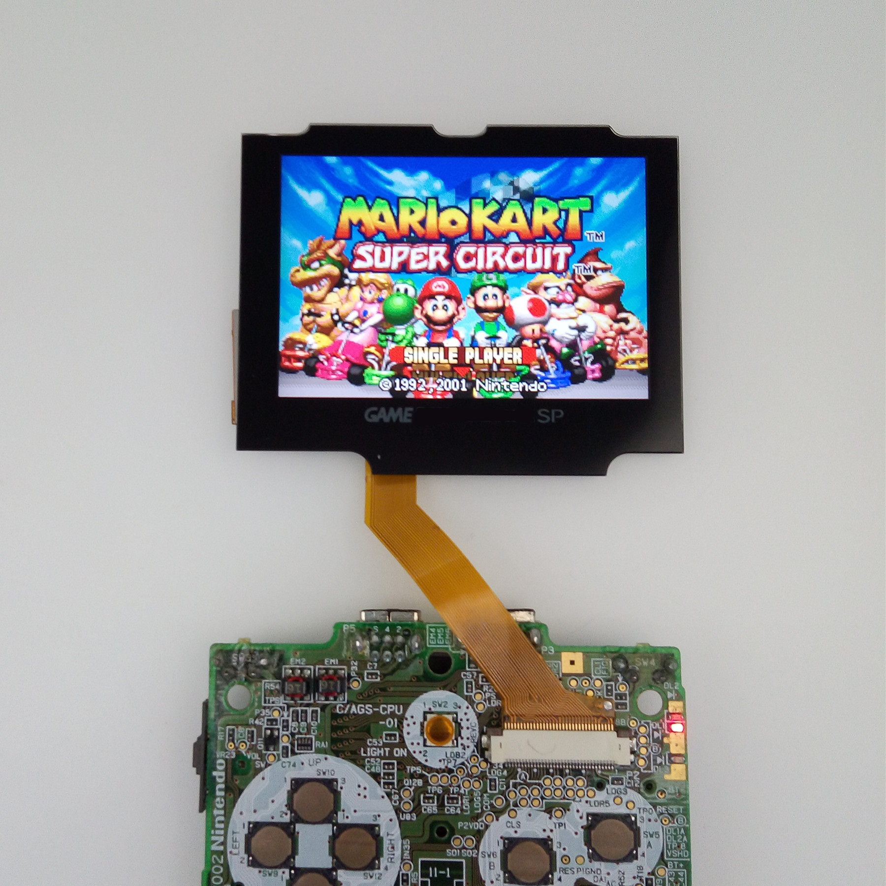 V2 IPS Screen LCD Kits for GBA SP Backlight LCD Screen 5 Levels Brightness V2 Screen For GBA SP Console And pre-cut Shell case