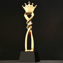 Trophy Reward Champions Trofeo Customized Prizes-Toy Crown Educational-Props Golden-Cups