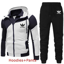 Autumn Winter Men's Sets Brand Sportswear Tracksuits 2 Piece Sets Men's Clothes Hoodies+Pants Sets Male Streetswear Coat Jackets