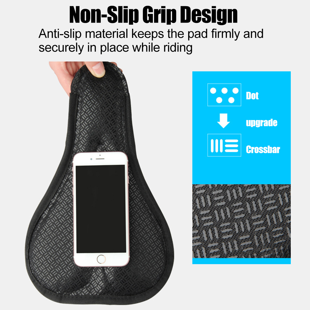 Cell Phone - Bike Saddle Cover, Soft Silicone Padded, Comfort Breathable Bicycle Seat Cover - for Mountain Road Bike Outdoor Cycling