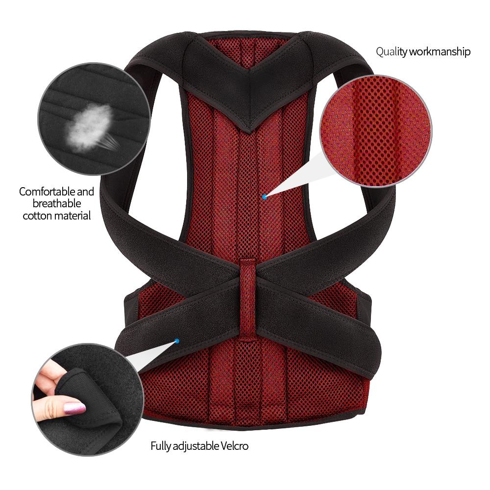Clothing - Back Waist Posture Corrector Adjustable Adult Corset Correction Belt Trainer Shoulder Lumbar Brace Spine Support Belt Vest