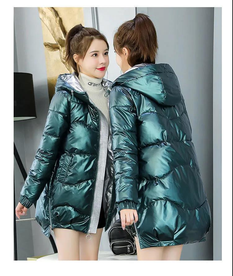 PLENTOP 2020 Womens Winter Warm Coat Hoodie Parkas Overcoat Jacket Ladies Fur Lining Coat Thick Long Hooded Outwear