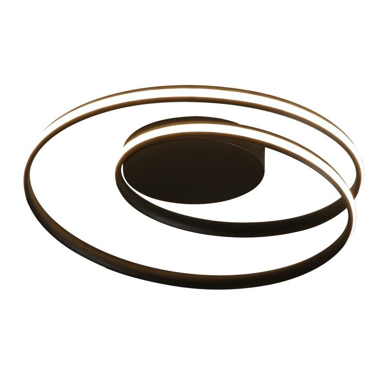 Современные Люстры, светодиодный светильник для гостиной, спальни, учебы, белого и черного цвета, установленный на поверхности, декоративная лампа, светодиодный светильник