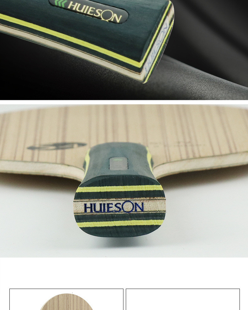 Huieson Professional Technology 5 Ply Composite Wood 2 Carbon Layer Table Tennis Racket Blade for LoopKilling Players S4 (7)