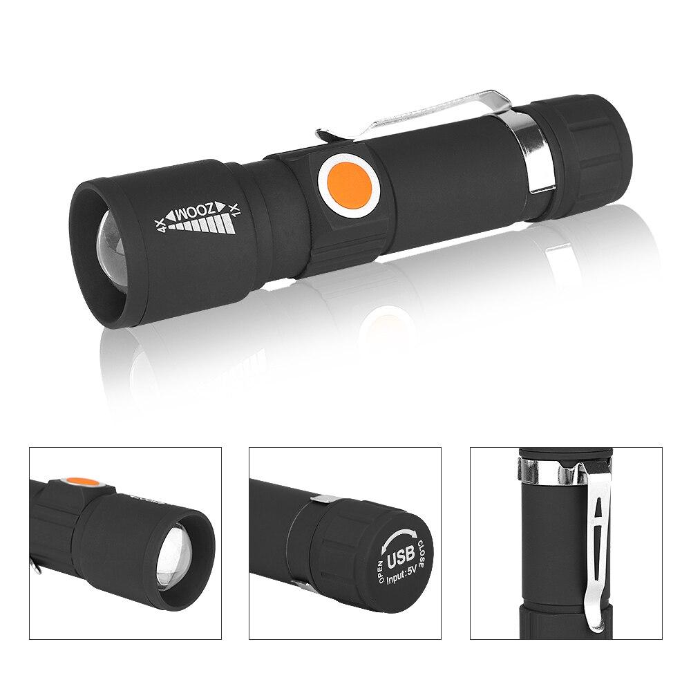Hot brilhante externa à prova d /'água Mini Lanterna de LED luz tocha com Bolso Lâmpada