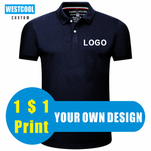WESTCOOL2020 New Men And Women Short-Sleeved Lapel Polo Shirts Custom Logo Embroidery Cultural T-shirts Custom Printed LOGO