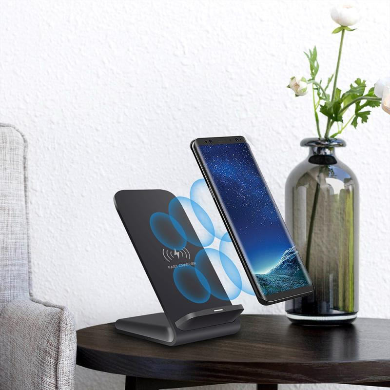 Flower - Mobile Phone Wireless Chargers 15W Qi Wireless Charger Stand For iPhone Samsung Fast Charging Dock Station Phone Charger FDGAO