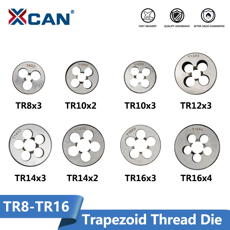 XCAN Right Hand Trapezoid Die TR8 TR10 TR12 TR14 TR16 Thread Die Threading Tools Lathe