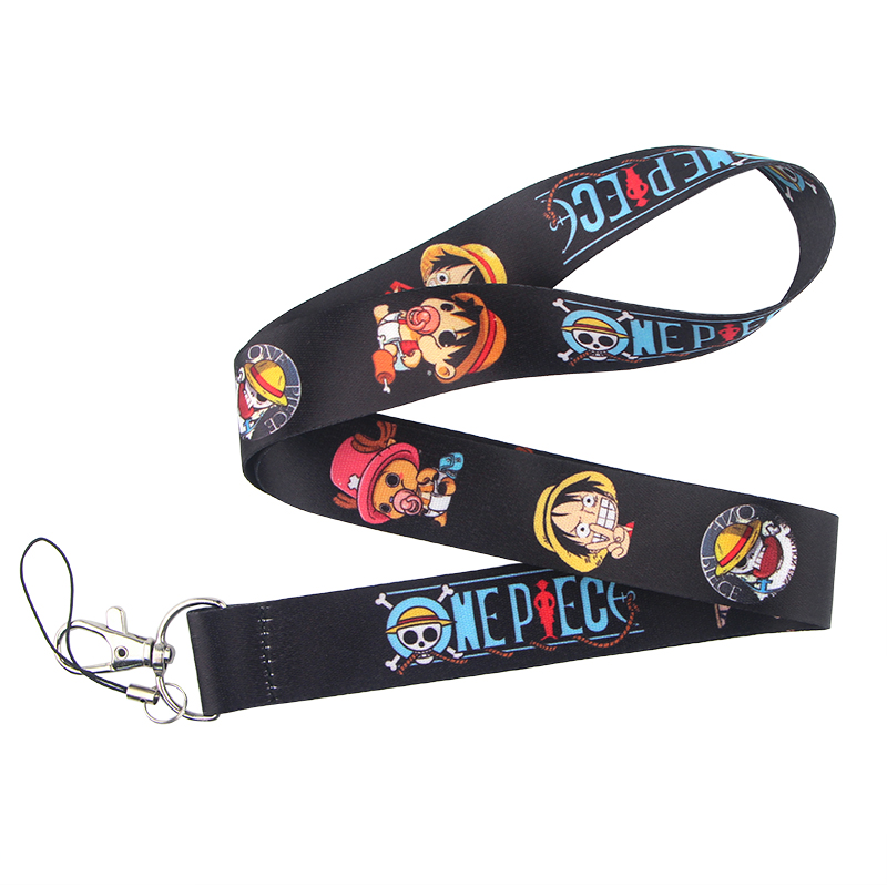 10pcs cartoon anime mixed Lanyard Mobile Phone ID Card KeyChain Holder gifts A05