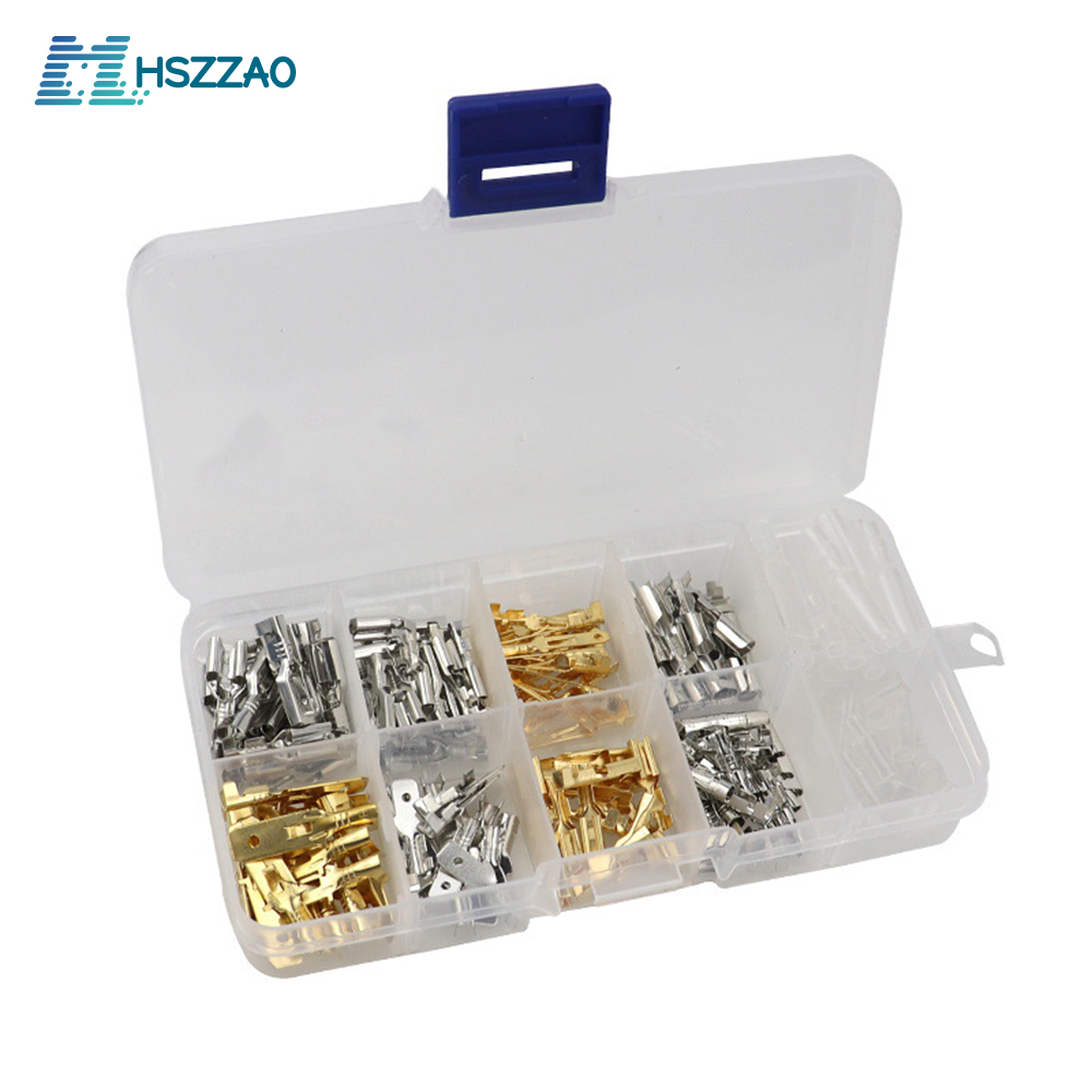 150 Sets 2.8//4.8//6.3mm Car Spade Connector Wire Terminals With Insulating Sleeve