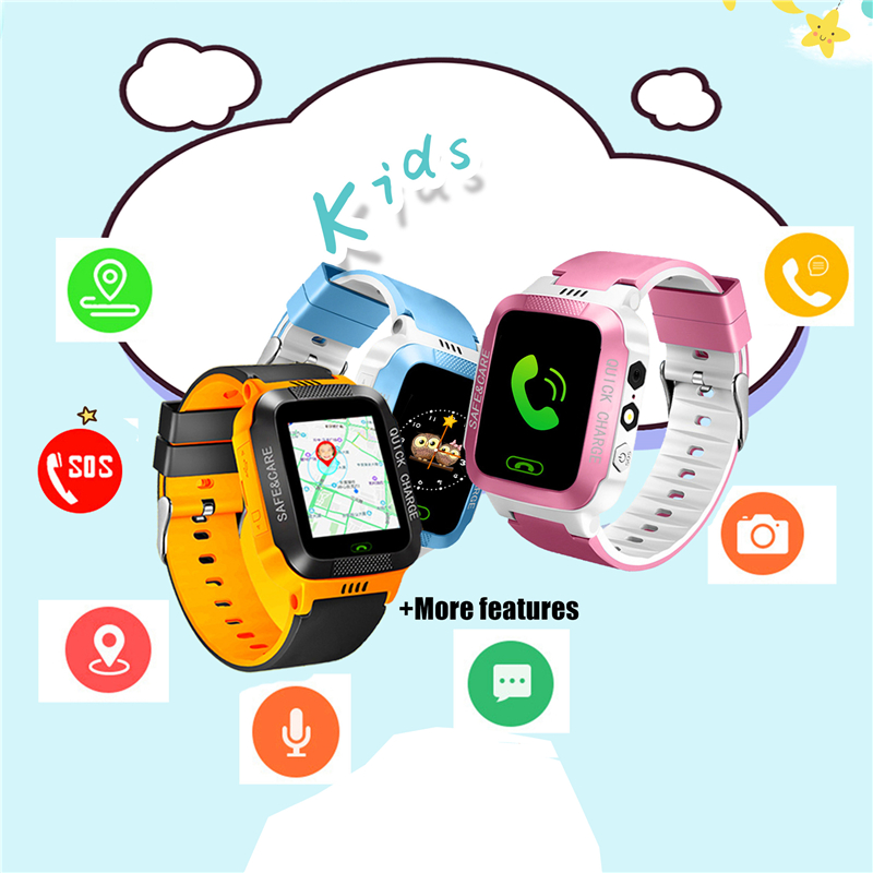 Smart Watch Kids Touch Screen Camera Positioning For Children's Watches SOS Call Location Anti-Lost Reminder Baby Watch Clock title=