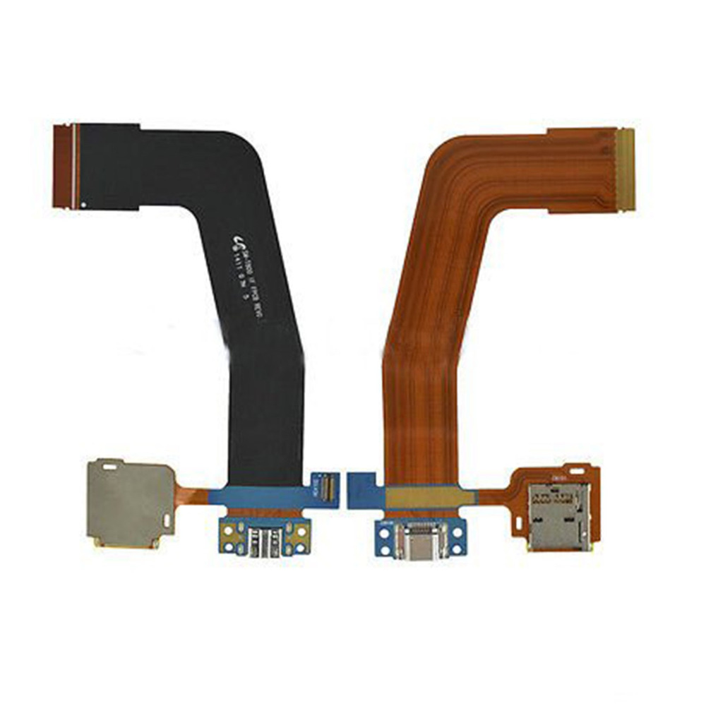 Connector Memory-Card-Holder Flex-Cable Microsd Charging-Port Galaxy Samsung T805 SM-T800 title=