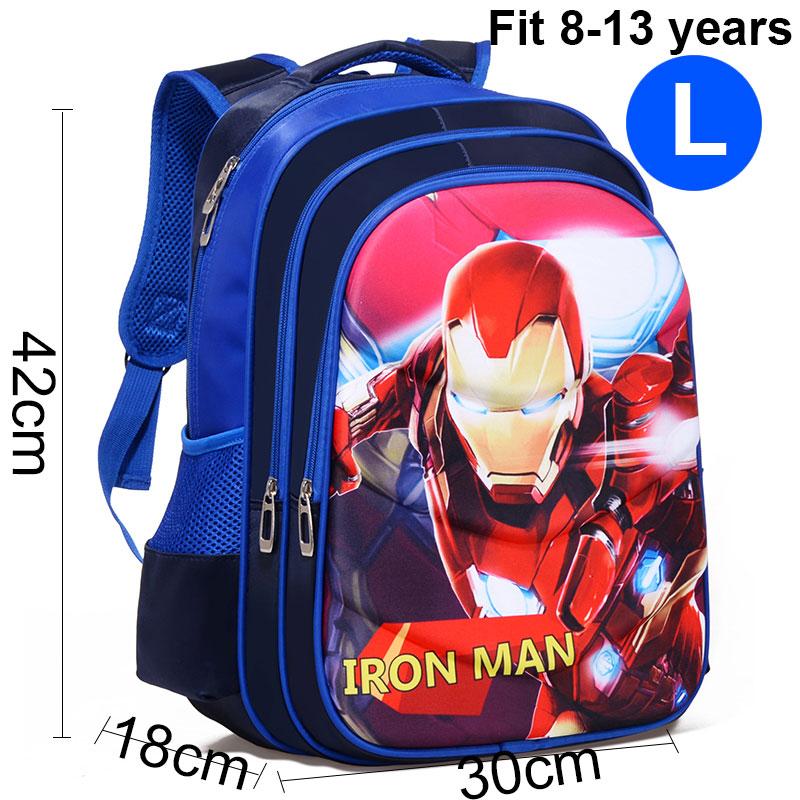 Comic Iron Man   Boy Girl Children Kindergarten School bag Teenager Schoolbags Kids Student Backpacks