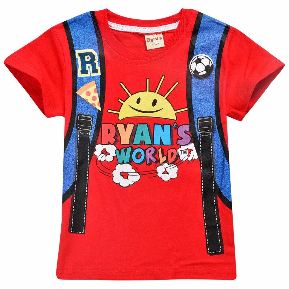 Short Sleeve T-Shirt Toddler Ryan Tee 3-8T CHANI Little Boys Girls Ryans World Smash