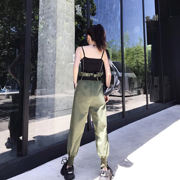Hot Big Pockets Cargo pants women High Waist Loose Streetwear pants Baggy Tactical Trouser hip hop high quality joggers pants 33