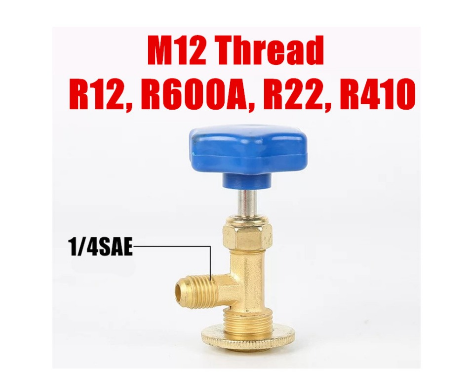 R22 R600a  Can Bottle Tap Valve Opener Connector Tool