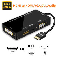 HDMI сплиттер HDMI к VGA HDMI DVI 4K 60 Гц адаптер для PS4 Pro Chromebook TV с аудио 3,5 мм jack HDMI(Китай)