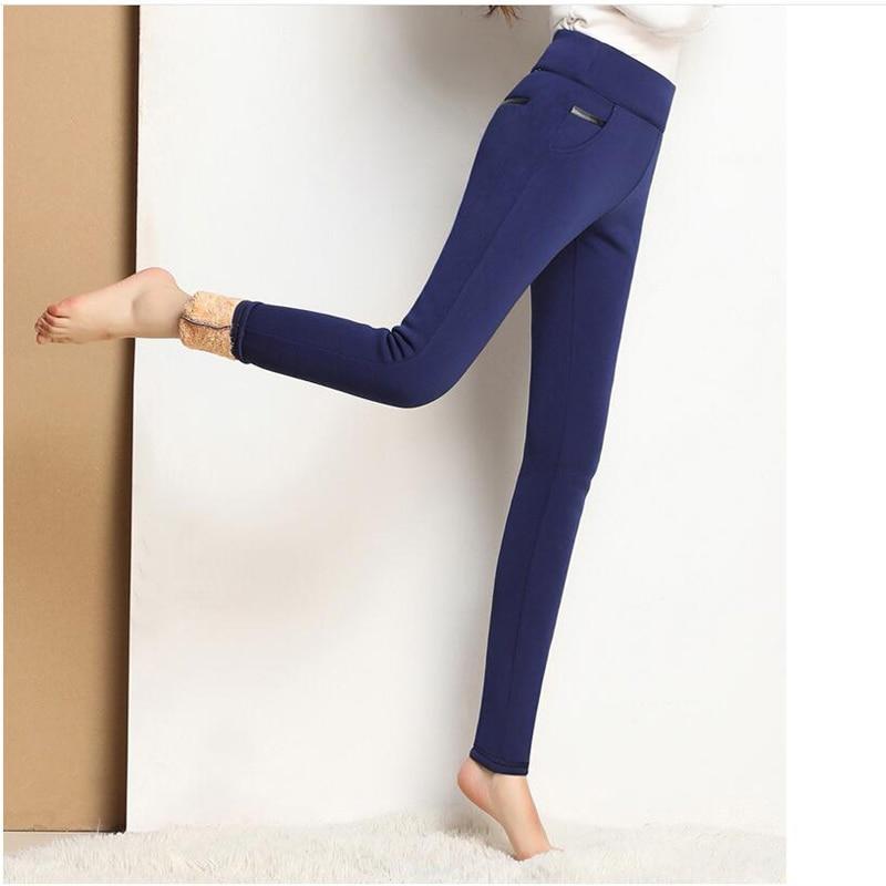 Shikoroleva Women/'s Leggings Winter High Waist Warm Fleece Thermal Elastic Jeggings Plus Size 5XL 4XL S Pencial Pants Black Blue