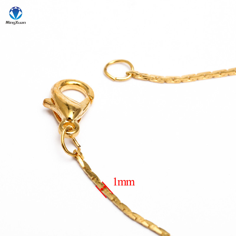 12pcs-Gold-Silver-Rhodium-40cm-Length-Lobster-Clasp-Metal-Link-Chain-Necklace-Simple-Necklace-Chain-DIY