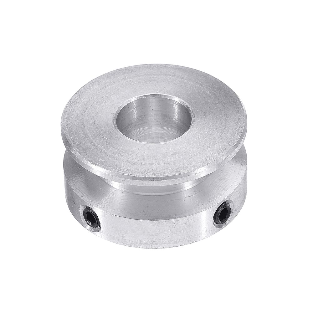 Width : 14mm 1PC Silver Aluminum Alloy 30MM Single Groove Pulley 4-16MM Fixed Bore Pulley Wheel for Motor Shaft 6MM Round Belt