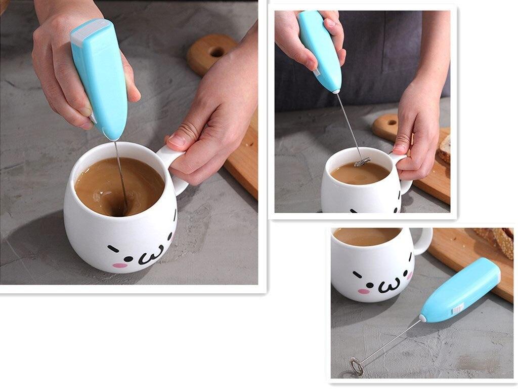 exemple d'utilisation Mousseur à lait électrique | OkO-OkO
