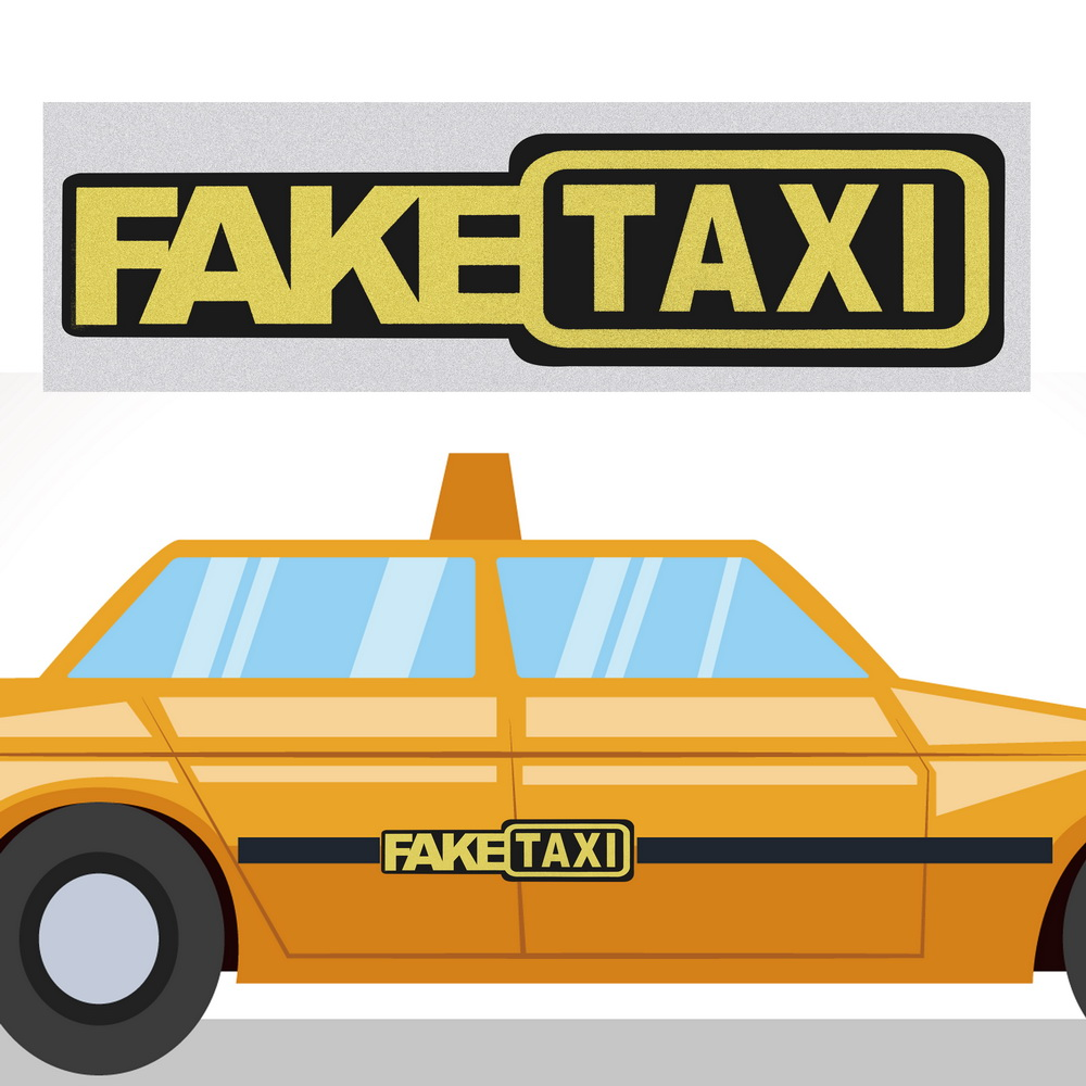 1PC FAKE TAXI Car Styling Sticker Auto Funny Vinyl FakeTaxi Window Bumper Trim