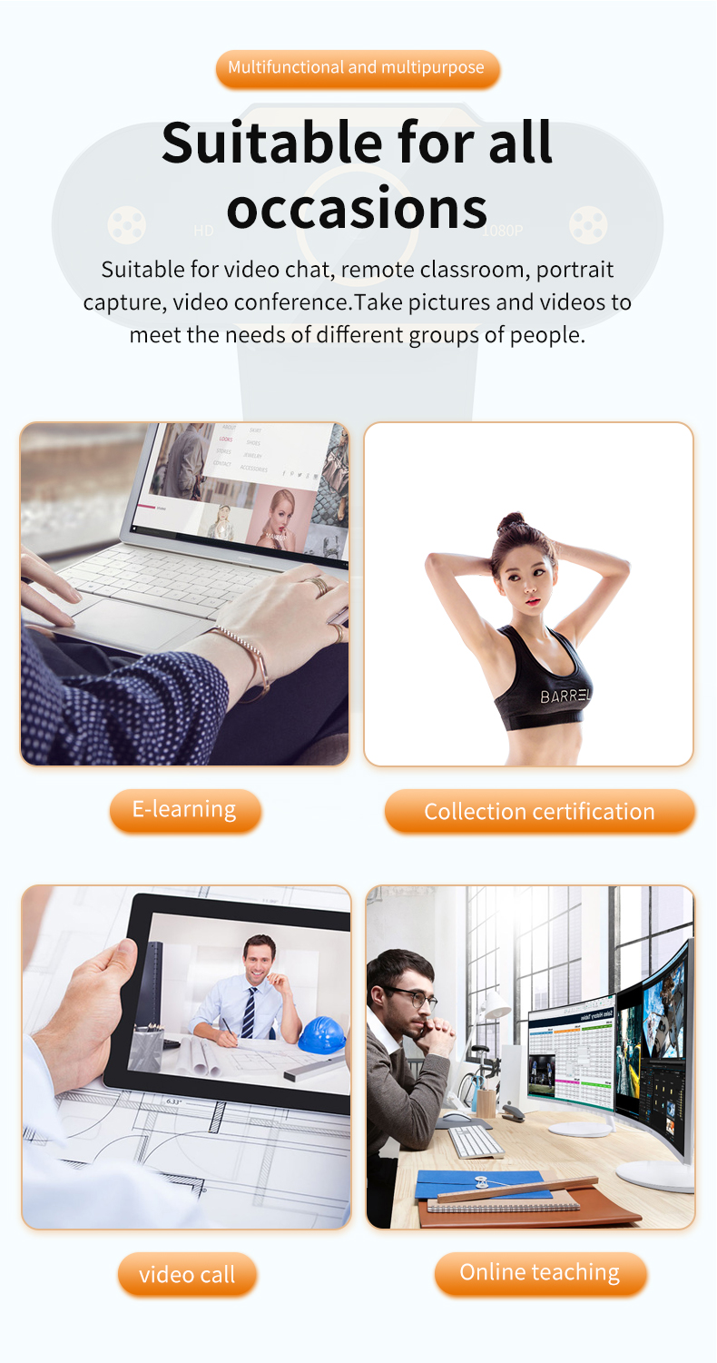 Person - Auto Focus 1944P HD Webcam 1080P web camera With Microphone smart Webcams for Live Broadcast Video Calling Home Conference Work