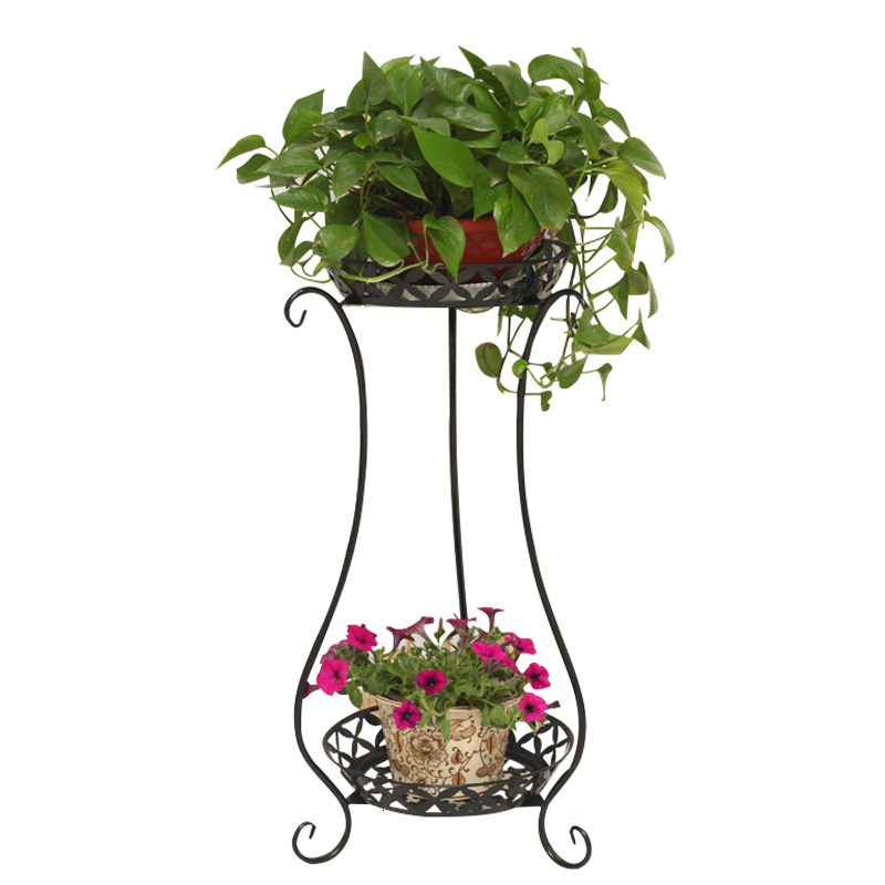 Flower-Rack Iron Art Balcony Landing-Type Indoor Small Frame Multi-Storey Bonsai Basket title=