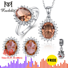 Kuololit Jewelry-Set Necklaces Ring-Earrings Color-Change-Stone 925-Sterling-Silver Zultanite