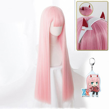 FRANXX Cosplay DARLING Anime Zero 02 Women Hairpin Wig Synthetic-Hair Pink