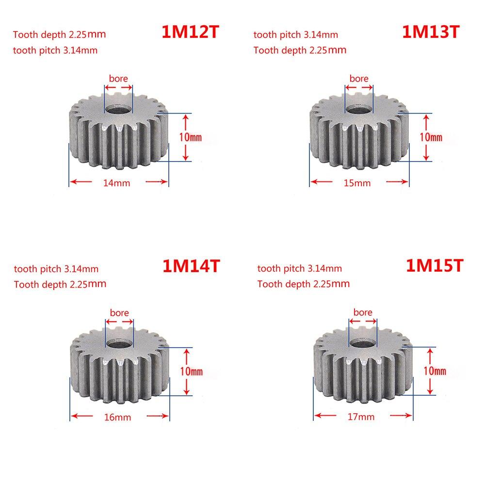 1 Mod 12T Pinion Gear #45 Steel Spur Gear  Tooth Diameter 14MM Thickness 10MM