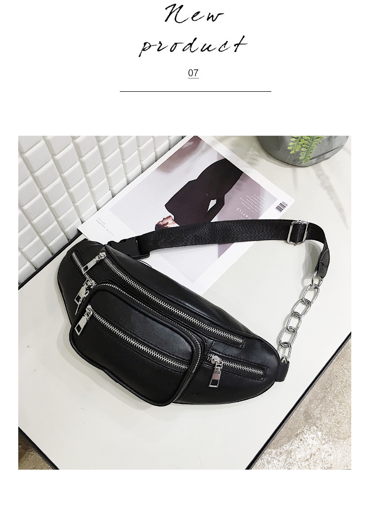 pu leather mini messenger new letter coin waist fanny pack bag