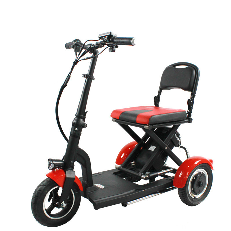 Electric Kick Scooter Adult Three Wheel Electric Scooters Tricycle 36V 300W Portable Folding Electric Elderly Scooter (8)