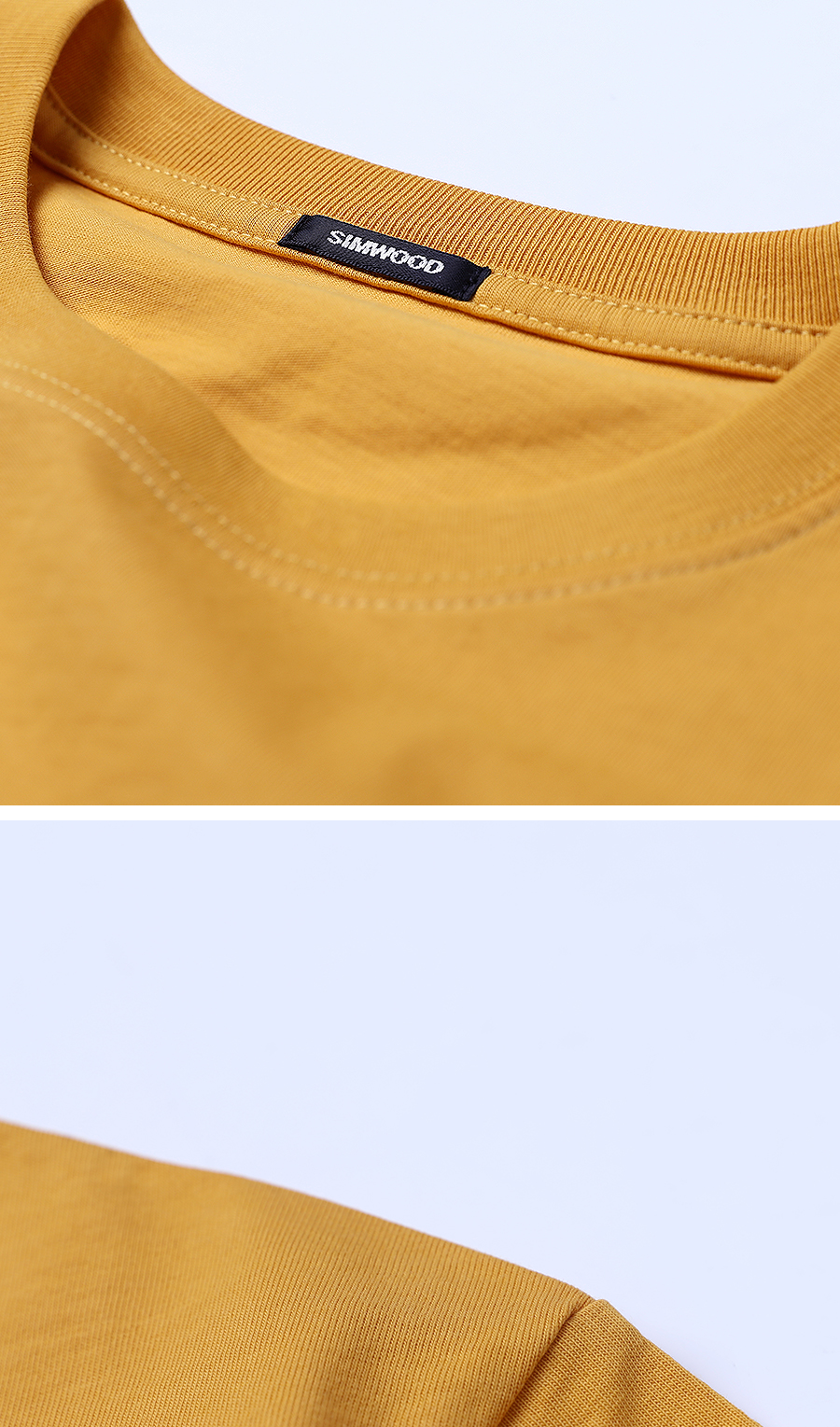 SIMWOOD 19 Summer New T-Shirt Men 100% Cotton Solid Color Casual t shirt Basics O-neck High Quality Plus Size Male Tee 190004 32