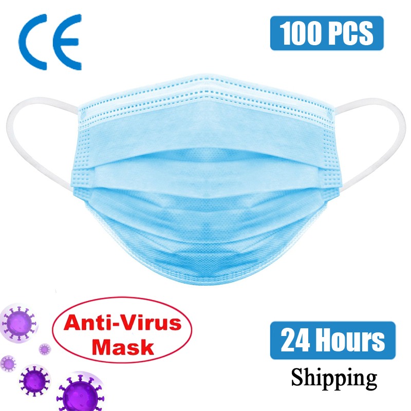 3 Layer CE Disposable FFP2 Mask Anti virus Mouth-muffle Face Masks Men Women Anti Fog Face Mouth Masks Breathable Mouth Cover title=