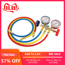 Manifold-Gauge-Set Refrigerant Air-Conditioning-Tools R134A R22 R404A with Hose-And-Hook